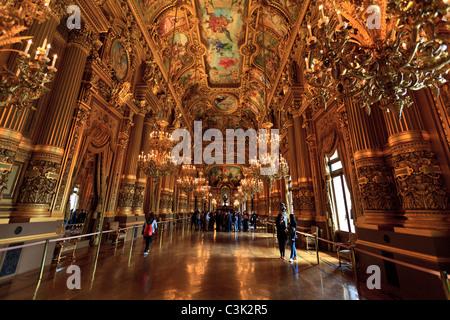 Grand Foyer of the Opera Garnier, Paris - Stock Image