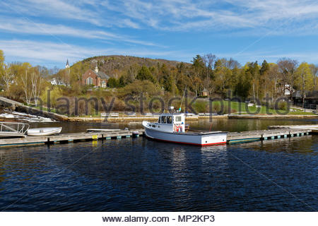 Springtime, Camden, Maine, USA - Stock Image