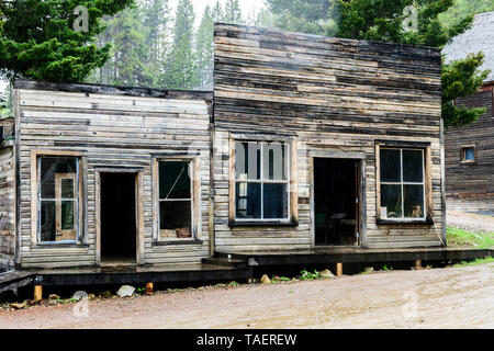 An old store in Garnet Ghost Town near Missoula, Montana USA. - Stock Image