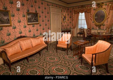 Oak Hill, interior design, Elizabeth Derby West, 1800, Museum of Fine Arts, Boston, Mass, USA, North America - Stock Image