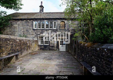 Ponden Hall - the building used Emily Bronte in Wuthering Heights as both Wuthering Heights itself, and Thrushcross Grange - Stock Image