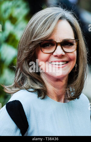 London, UK. 7th Apr 2019. Sally Field poses on the red carpet at the Olivier Awards on Sunday 7 April 2019 at Royal Albert Hall, London. Picture by Credit: Julie Edwards/Alamy Live News - Stock Image