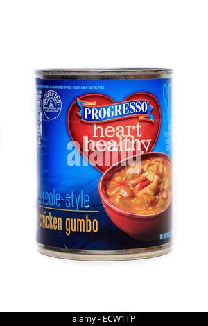 Progresso Heart Healthy Creole Style Chicken Gumbo - Stock Image