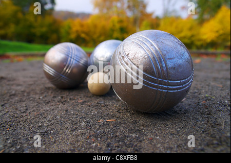 Petanque, sports game played in south of France - Stock Image