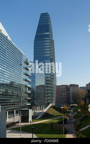 Diamond Tower and the Diamantini Buildings designed by the Kohn Pederson Fox in the Porta Nuova district in Milan, - Stock Image