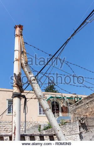 Barbed Wire House Decorations - Stock Image