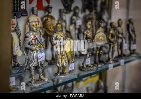 Medieval themed souvenirs.  Toledo is a municipality located in central Spain, 70km south of Madrid. It is - Stock Image