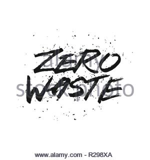 Save the planet. Calligraphy design that can be used as a print on t-shirts, bags, stationery, posters, greeting cards. Handwritten modern lettering. - Stock Image