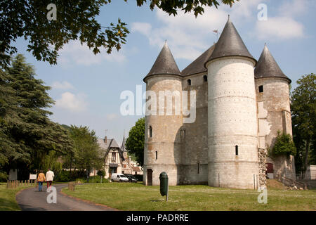 Le Chateau des Tourelles on the banks of the River Seine in Vernon, Eure, central, Normandy, France - Stock Image