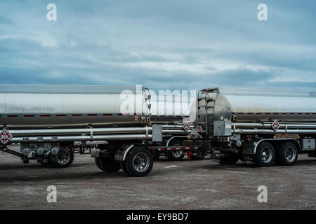 Parked Trailers; Nevada, United States Of America - Stock Image