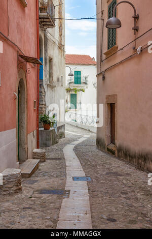 Rodi Garganico (Puglia, Italy) - View of the little picturesque village in south Italy - Stock Image