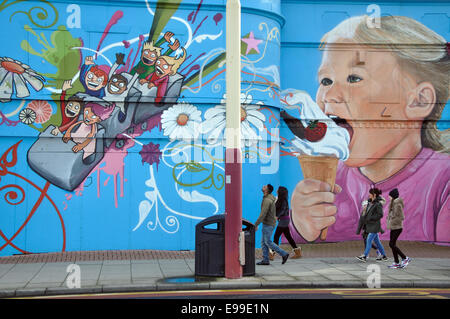 urban art, Blackpool, England, UK - Stock Image