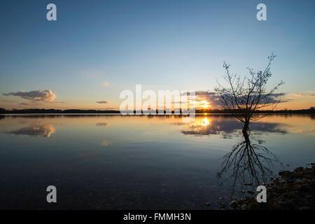 Lakeside Sunset - Stock Image