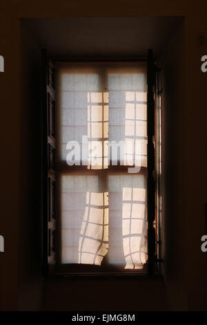 Baroque window in Palazzo Barberini, Rome, Italy. - Stock Image