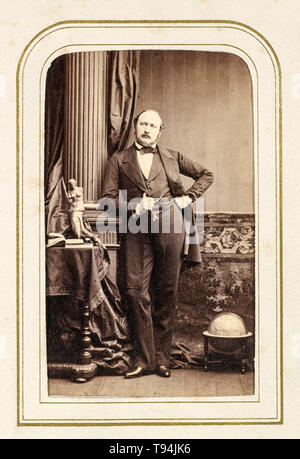 Prince Albert, portrait photograph, standing, circa 1860s by F, Joubert - Stock Image