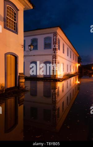 Historic center of Paraty, in Rio de Janeiro State, Brazil - Stock Image