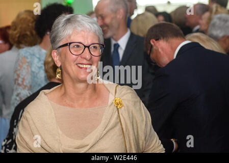 Riga, Latvia. 8th July 2019. Sandra Kalniete, Member of European Parliament, during Reception in honour of the inauguration of President of Latvia Mr Egils Levits accompanied by First Lady of Latvia Mrs Andra Levite. Credit: Gints Ivuskans/Alamy Live News - Stock Image