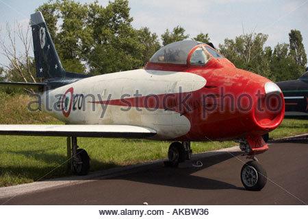 Rivolto Italia Air show 2005 Canadair F 86E Sabre MM19685 Italian acrobatic team Cavallino Rampante 1956 1957 - Stock Image