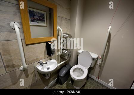 Public toilet interior UK. - Stock Image