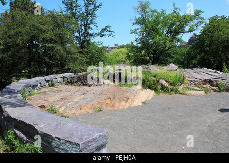 Site marking Nutter's Battery in Northern Central Park, Manhattan on JULY 4th, 2017 in New York, USA. (Photo by - Stock Image