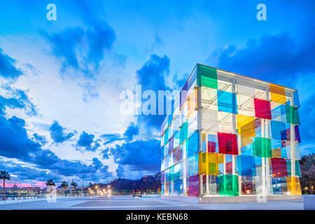 Malaga, Centre Pompidou Malaga. Pompidou Museum Malaga. Malaga Pompidou Center. - Stock Image