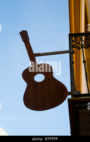 Guitar Sign, Seville, Spain - Stock Image