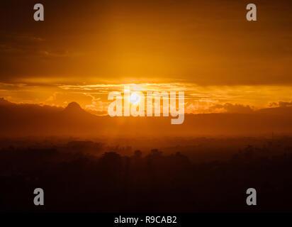 Sunset on golden colour - Stock Image