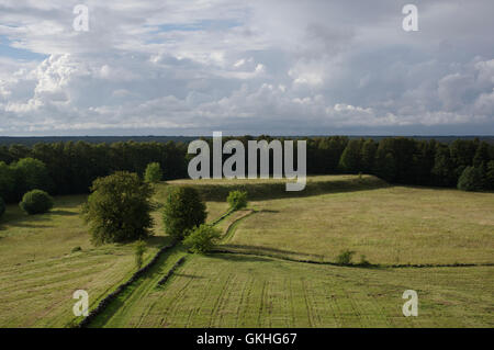 Soontagana Stronghold seen from Soontagana Watchtower. Pärnu county, Estonia - Stock Image