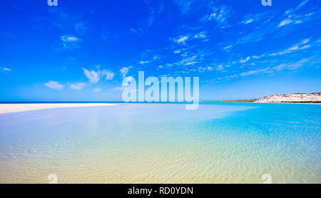 Coral Bay beach, Australia. Skeleton Bay in the Maud Sanctuary Zone in Ningaloo Marine Park - Stock Image
