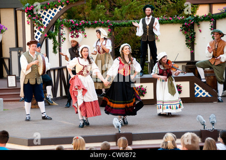 USA Utah,Green Show before theatre at Cedar City Shakespeare Festival - Stock Image