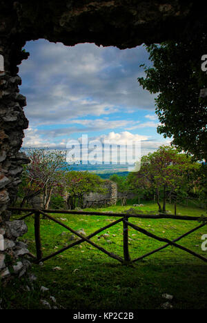 Ancient ruins of Castiglione, near Palombara Sabina, Italy - Stock Image