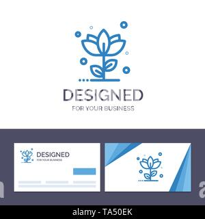 Creative Business Card and Logo template Flora, Floral, Flower, Nature, Rose Vector Illustration - Stock Image