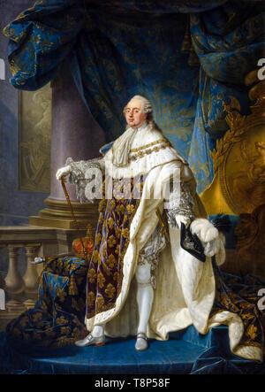 Louis XVI. Antoine-François Callet, Louis XVI, King of France and Navarre, portrait painting, 1789 - Stock Image