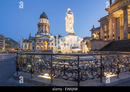 Concert House, Schiller Statue,  French Dome, Berlin - Stock Image