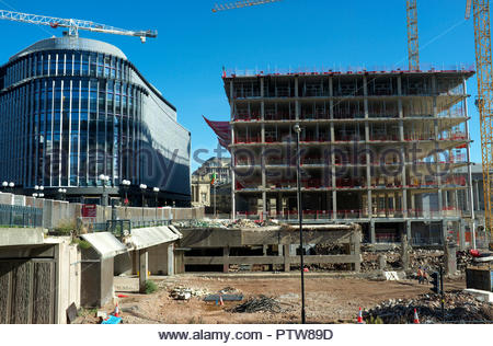 Urban demolition and renewal in central Birmingham; the site is known as the Big City Plan. West Midlands, UK. - Stock Image
