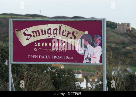 Smugglers Adventure attraction West Hill Hastings. - Stock Image