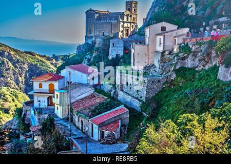 Savoca Village, Sicily, Italy - Stock Image