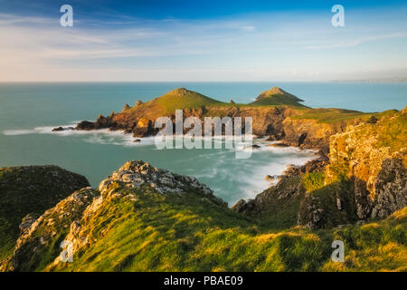 Pentire Head and Rumps Point near Polzeath, Cornwall, England, UK. April 2014. - Stock Image