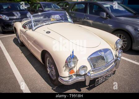 Classic MG sports car. MGA - Stock Image