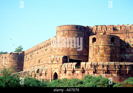 Agra Fort Outer Fortifications, Rajasthan, India - Stock Image