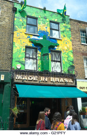 Made in Brasil - a restaurant / cocktail bar in Camden, London, UK. - Stock Image