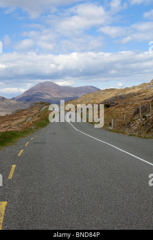Lonesome Road #43 - a deserted mountain road - Stock Image
