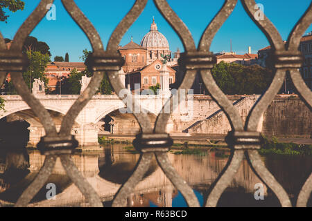 Saint Peter Cathedral in Rome, Italy. - Stock Image