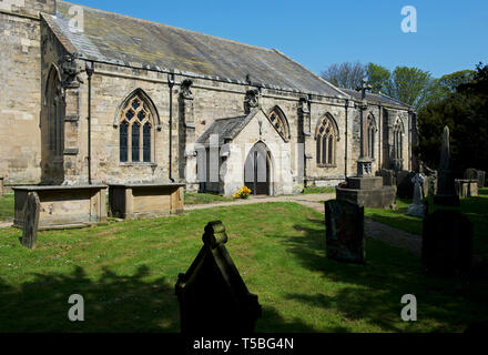 St Andrew's Church, Bainton, East Yorkshire, England UK - Stock Image