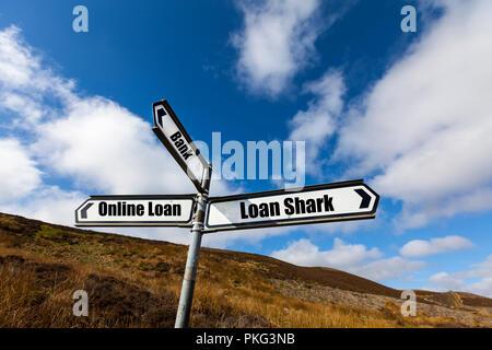 Bank loan, online loan, loan shark, loan, loans, borrowing money, loan money, loaning money, money lender, money, lender, online, borrow, lending, UK - Stock Image