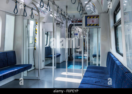 Subway Metro Train in Kuala Lumpur, Malaysia - Stock Image