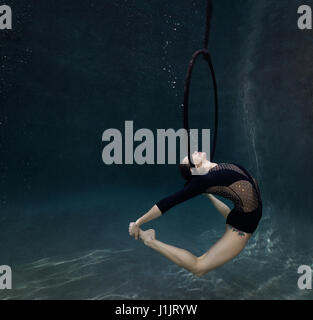 Underwater gymnast - Stock Image