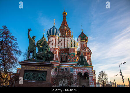 Moscow, Russia, Red square, Cathedral of Vasily the Blessed - Stock Image