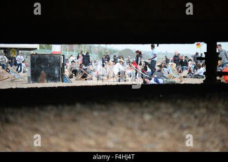 Brighton pier beach - Stock Image