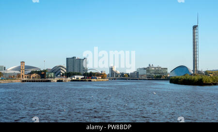 View of the Glasgow dockside area - Stock Image